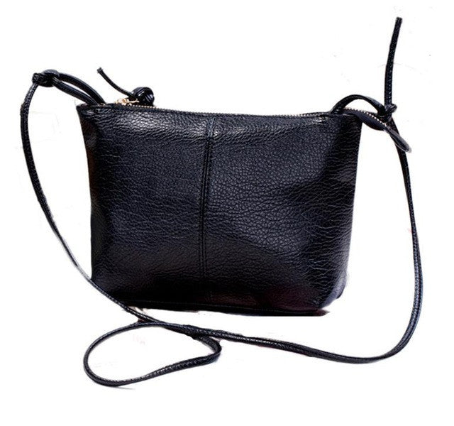Zipper Leather Cross Body Bag For Women