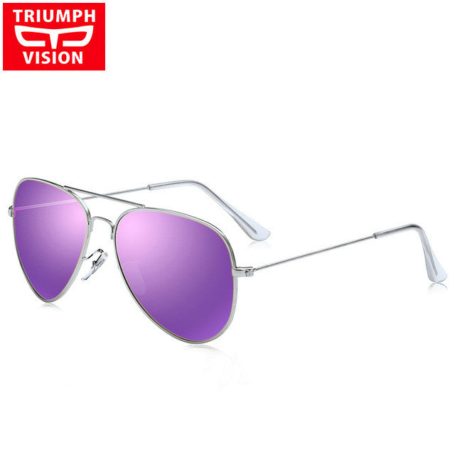 Fashion Polarized Metal Frame Women Aviator