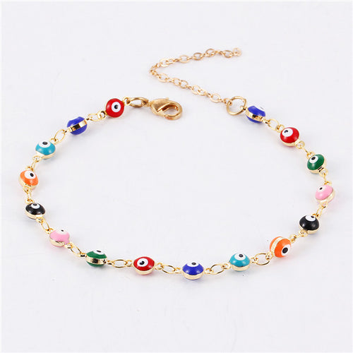 Colorful Turkish Gold Color Beads Party pulseira masculina