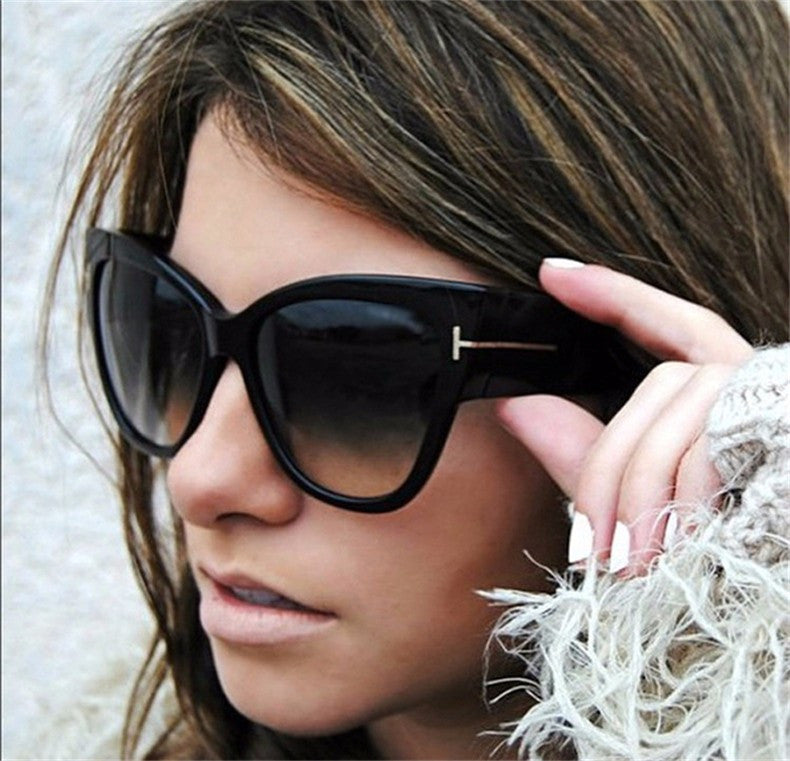 Cat Eye Women Sunglasses Female Gradient Points Sun