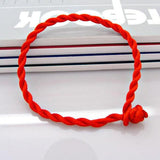 Woven Rope Leather Bracelet Knot Bangle