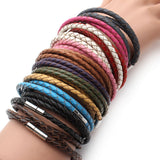Leather Bracelet Woven Wrap Bangle For Women