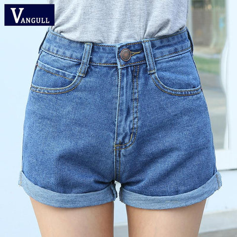 High Waisted Denim Shorts For Women