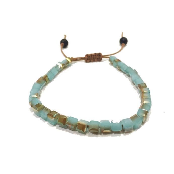 Blue Gold Glass | Diffuser Bracelet