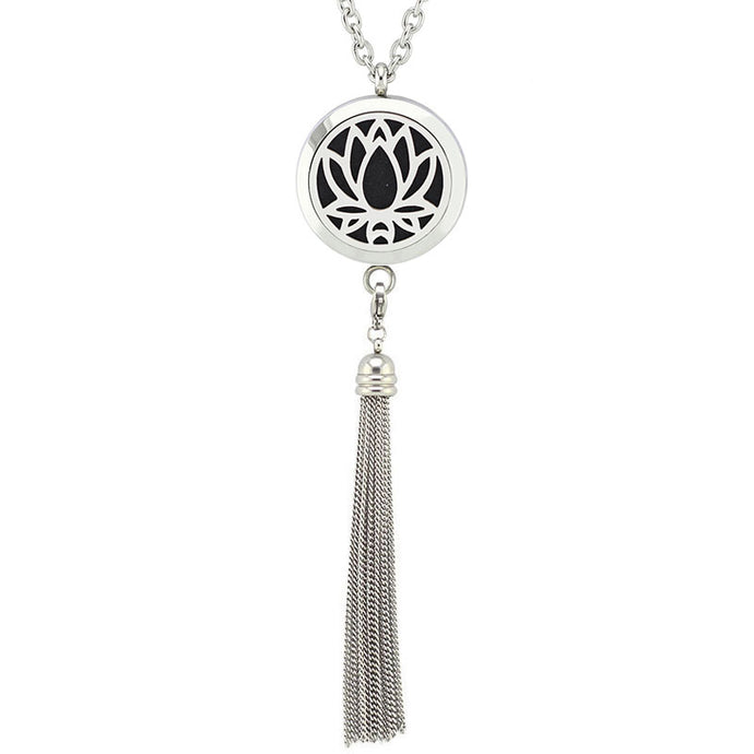 Lotus | Stainless Steel Diffuser necklace
