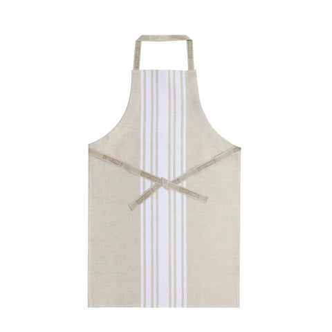 Jean Vier St Jean Apron with Beige + White Stripes