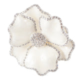 White Pearlized Flower Napkin Rings by Nomi K., Set of Three