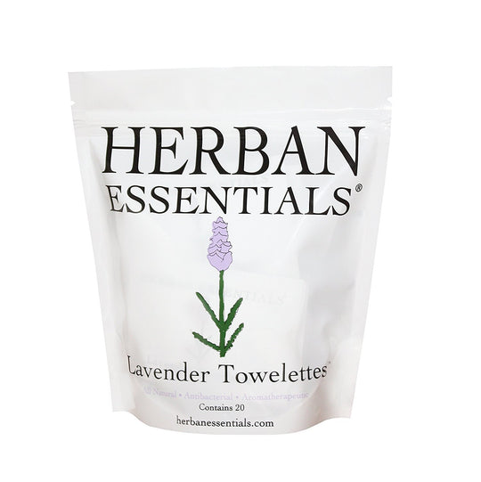 Essential Oil Towelettes by Herban Essentials Lavender