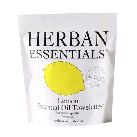 Herban Essentials Towelettes 20 Count - Lemon