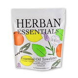Essential Oil Towelettes by Herban Essentials Mixed