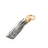 Silver Leather Tassel Napkin Rings by Julian Mejia Design