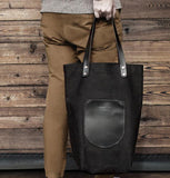 Black Canvas Market Tote by Materials + Process