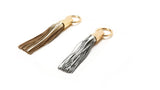 Silver Leather Tassel Napkin Rings by Julian Mejia