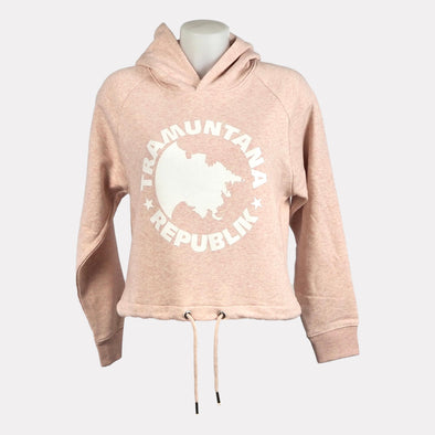 SUDADERA CROP TOP SOSTENIBLE ROSA