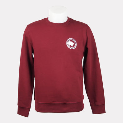 SWEATSHIRT CREWNECK SOSTENIBLE GRANATE