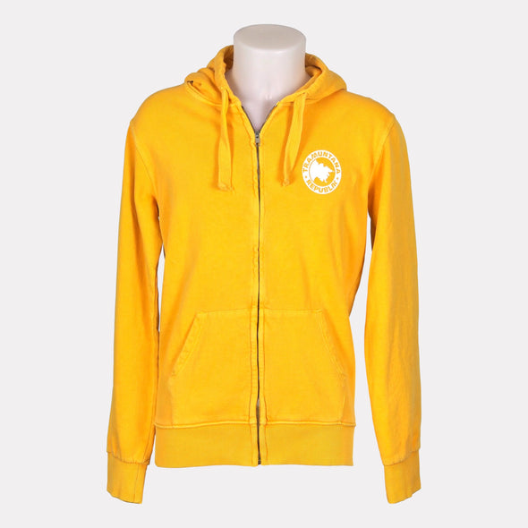 HOODED ZIP VINTAGE AMARILLO/BLANCO