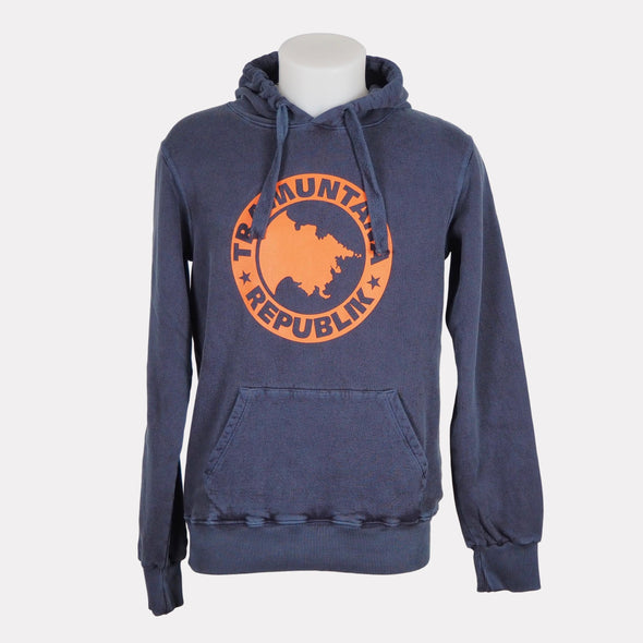 HOODED SWEAT VINTAGE NAVY / NARANJA