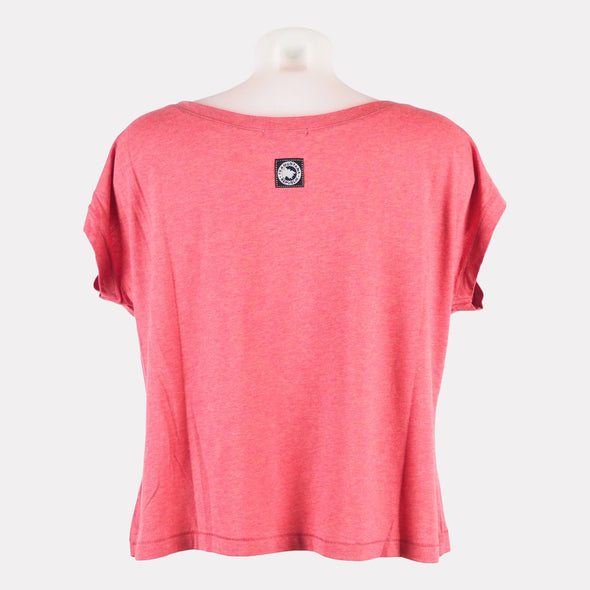 T-SHIRT CROP TOP SOSTENIBLE ROJO