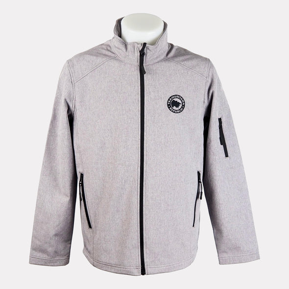 CHAQUETA SOFTSHELL MEN GRIS CLARO
