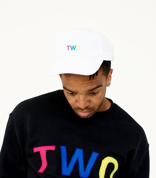 TWO LOW PROFILE DADDY HAT | WHITE