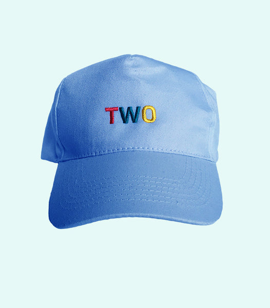 TWO LOW PROFILE DADDY HAT | BLUE
