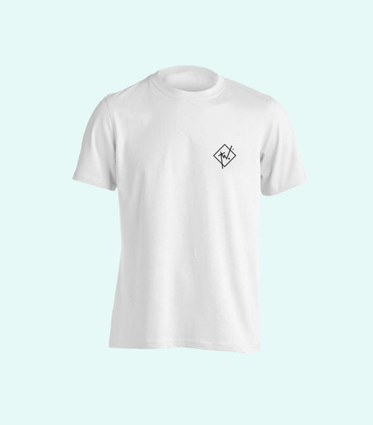 TWO DIAMOND LOGO TEE | WHITE AND BLACK