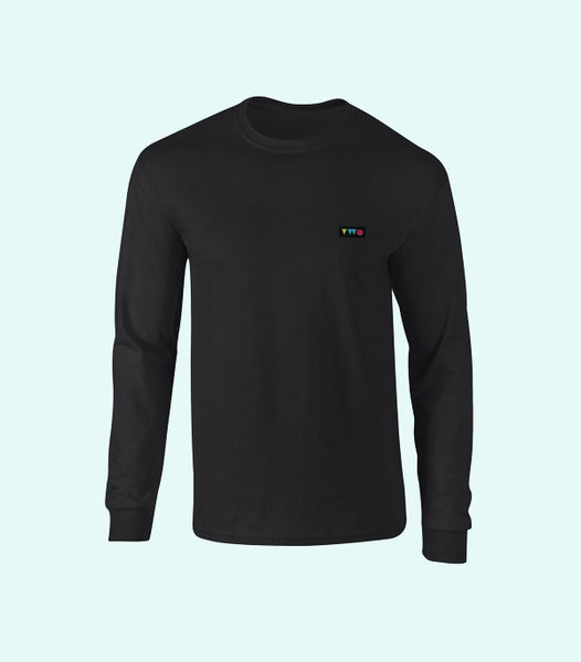 TWO PLAY LONG SLEEVE TEE | BLACK