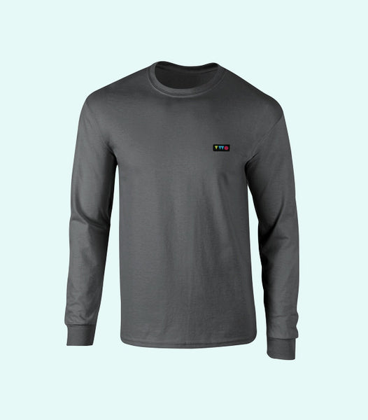 TWO PLAY LONG SLEEVE TEE | HEATHER GREY
