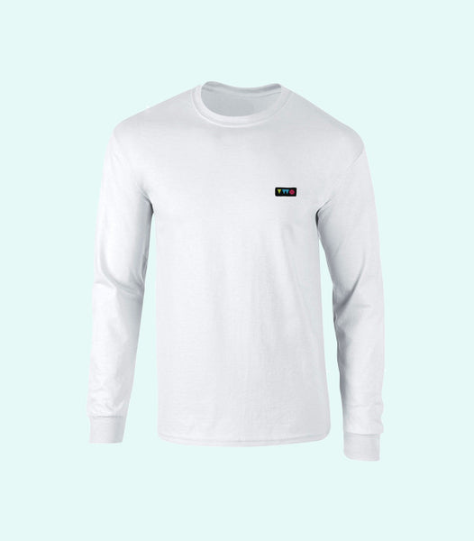 TWO PLAY LONG SLEEVE TEE | WHITE
