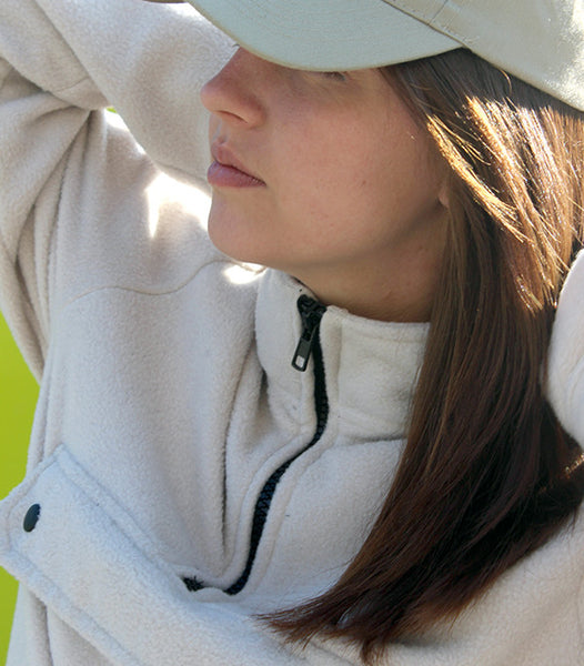 TWO PULLOVER FLEECE | CREAM