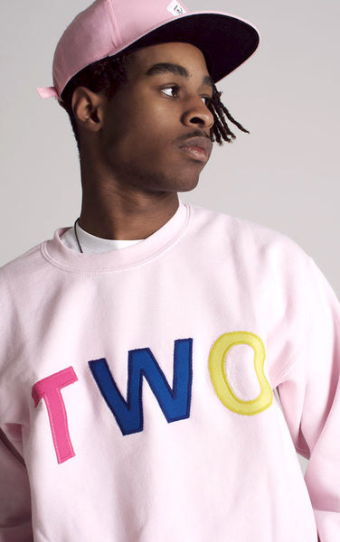TWO APPLIQUÉ SWEATSHIRT | PINK