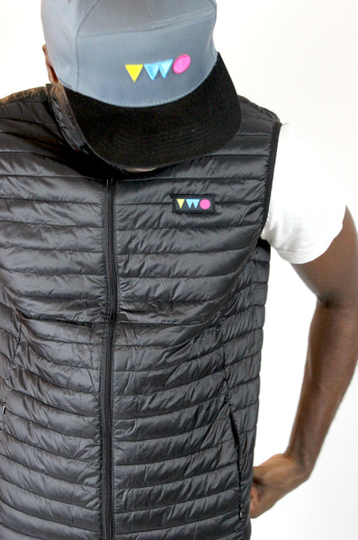TWO PLAY PADDED GILET - BLACK