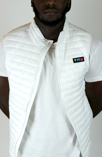 TWO PLAY PADDED GILET - WHITE