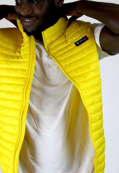 TWO PLAY PADDED GILET - YELLOW