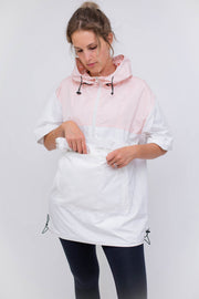 Packable Unisex Anorak - Pink/White
