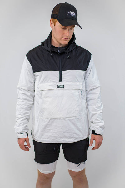 Packable Unisex Anorak - Black/White