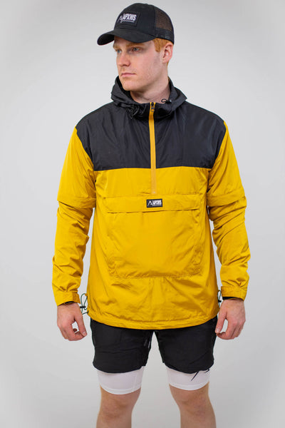 Packable Unisex Anorak - Black/Yellow