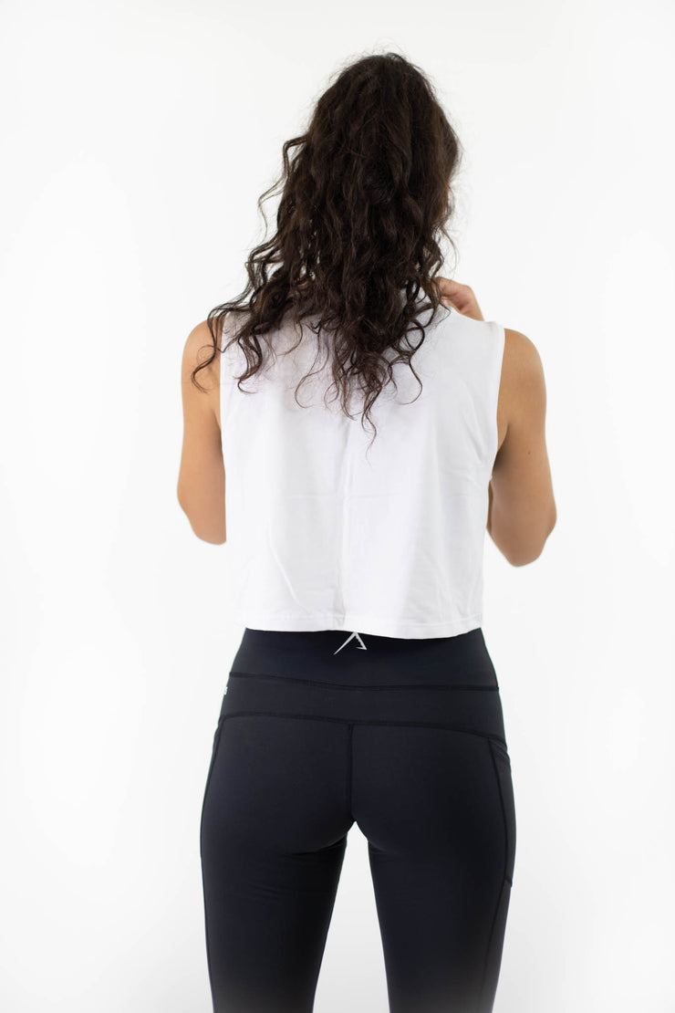 High-Waisted Pockets Legging - Black