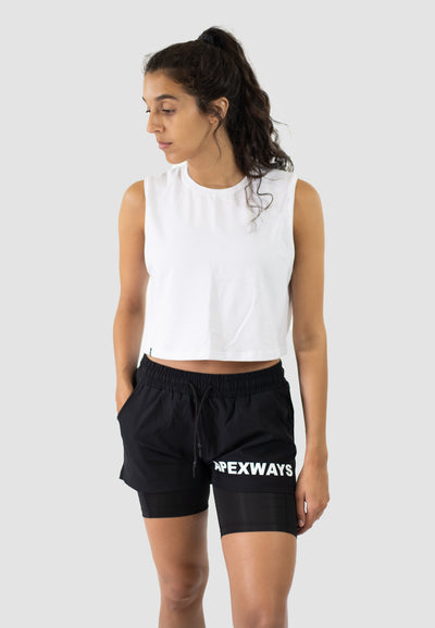 Women Hybrid Shorts - Black