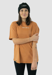 Back Print T-Shirt - Burnt Orange