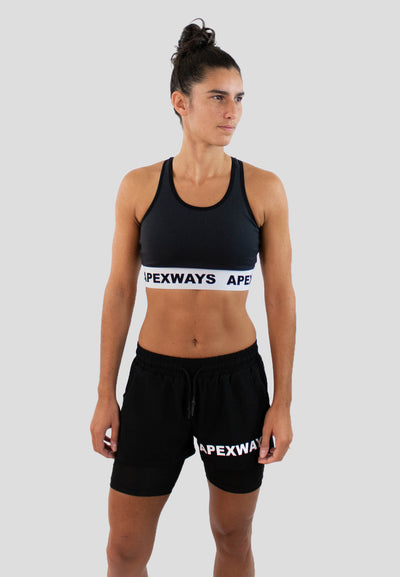 Ventilation Sports Bra - Black