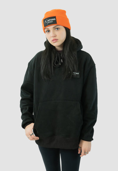 Basic Fitted Hoodie -  Black