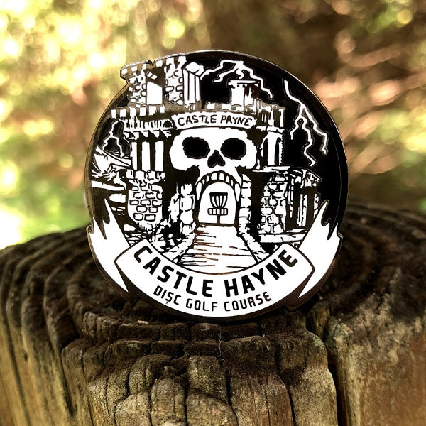 Castle Hayne Disc Golf Pin - (White Banner)