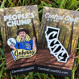 Johnny Disc Golf and CCDG Logo Disc Golf Pin