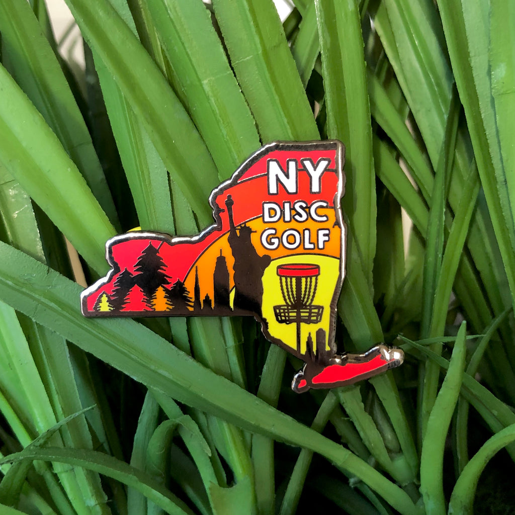 New York Disc Golf Pin