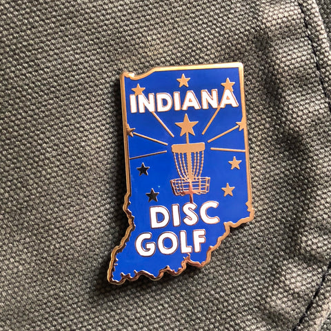 Indiana State Disc Golf Pin