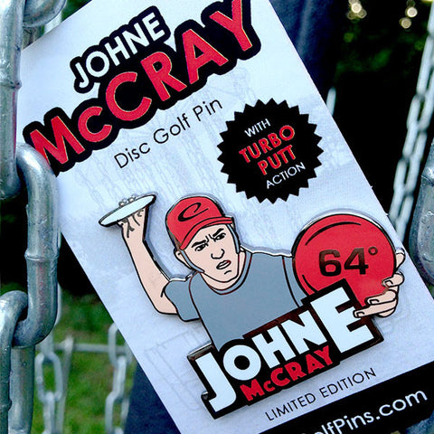 JohnE McCray Enamel Disc Golf Pin