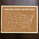 United States of Disc Golf Pins - Custom Cork Board