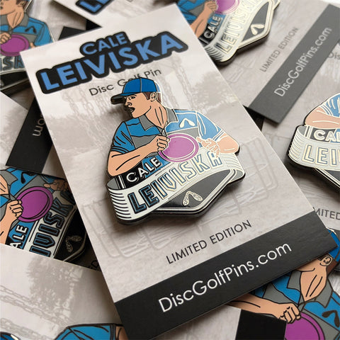 Cale Leiviska Disc Golf Pin - Series 1