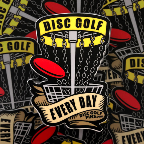 Disc Golf Every Day Sticker